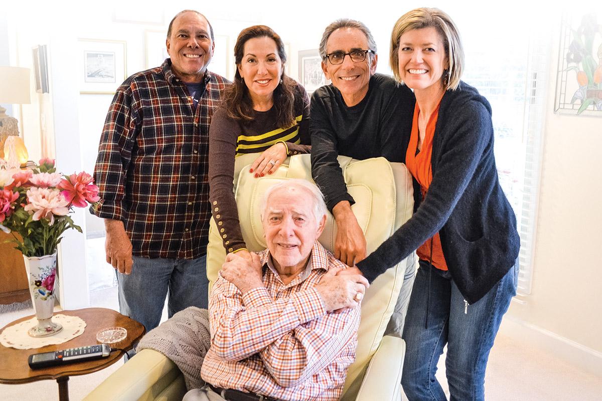 Henri Landwirth with his children Greg, Lisa, Gary and Gary's wife, Theresa