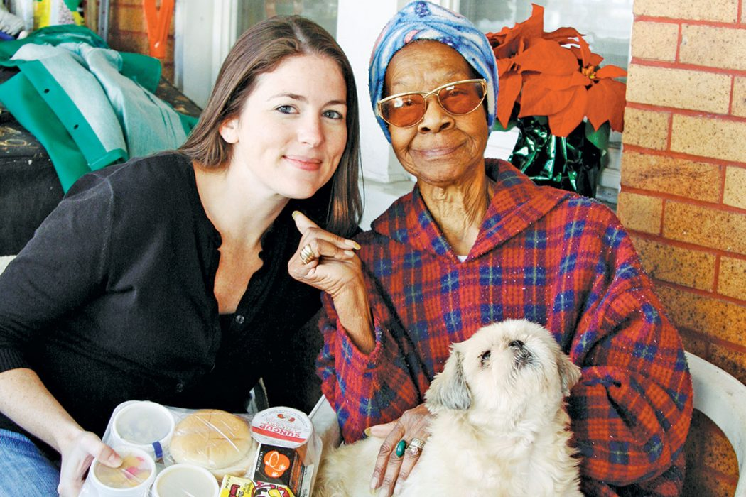 Aging True employees and volunteers deliver Meals on Wheels to clients and their pets.