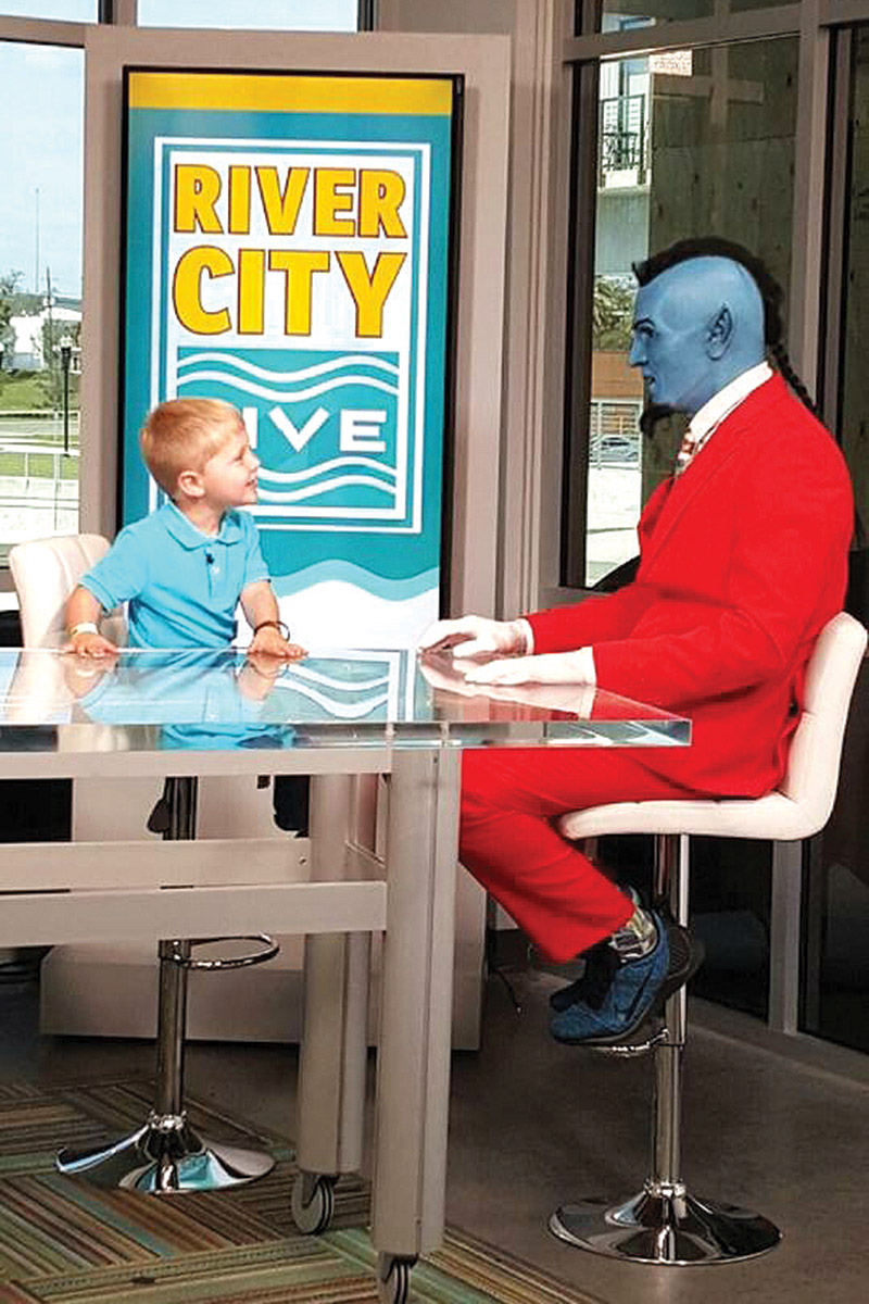 Easton Arrington, 4, on River City Live with The Experience Genie