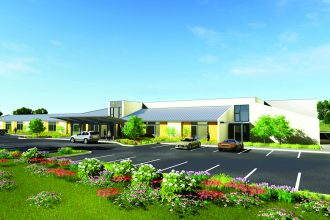 Rendering of proposed new North Florida School of Special Education campus, to be named The Christy and Lee Smith Lower School Campus and Therapeutic Center.