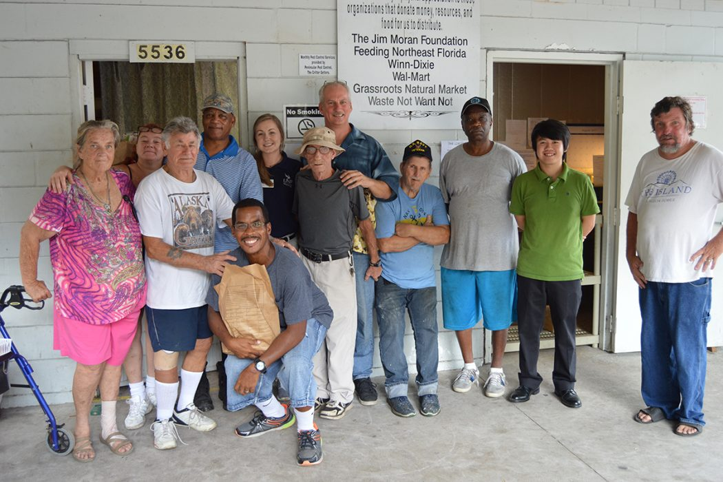 Lord's Pantry Volunteers include Linda Garrone, Janice Soliz, Ed Schepanski, Charles Green, Brad D. Frederick, Shelby Vann, Rick DuMiller, Pastor Young Smith III, Leroy Lallemand, Willie Vincent Scott, Hai Nguyen and Kevin Meyers.