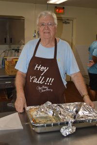 Church group provides tuna casserole, served with love