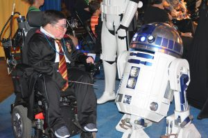 What happens when good old-fashioned wizardry meets the future? Harry Potter and R2D2 will let us know! (Photo credit: David Luck, Community Hospice & Palliative Care)