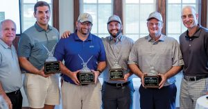 First place team England-Thims and Miller, Inc. at the 21st Annual LENNAR and MBF Champions for Child Safety Pro Am Golf Tournament