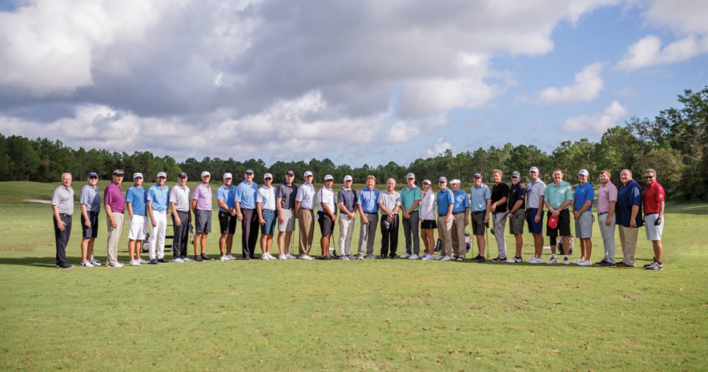 Some of the 120 golfers who teamed up to play for a cause, raising more than $187,000 for Monique Burr Foundation for Children's programs.