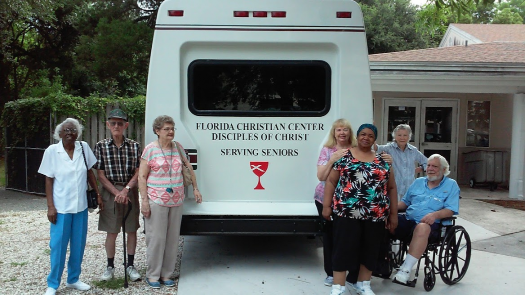 "Seniors at Florida Christian Center need help raising funds for an ""almost new"" 14-passenger bus."