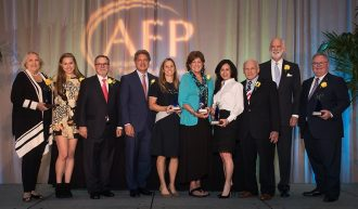 National Philanthropy Day Award Winners: Kit Thomas, Grace Friedman, Peter Ghiloni, Jay Demetree, Jr., Meredith Chartrand Frisch, Pam Cown, Christine and Steve Chapman, Gilchrist Berg and Tim Volpe