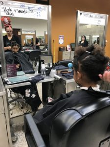 Arianna, 13, was all smiles as they styled and cut her hair for a new fresh look, courtesy of Aveda Institute of Jacksonville. Arianna's special haircut was part of Stein Mart's Spa Day hosted for nine dream children from Dreams Come True and their mothers.