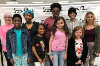 Dreamers (front) Mackenzie, Arianna, Francesca, Olivia (back) Isabella, Iayana, Anastasia, Angeliz and Marleigh from Dreams Come True enjoyed an evening of pampering with their mothers, thanks to Aveda Institute of Jacksonville and the Women's Board of Dreams Come True.
