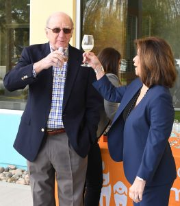 David and Linda Stein toast the completion of the Campaign for a Compassionate Community at the Jacksonville Humane Society.