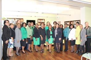Members of the Bold City (FL) Chapter of The Links are recognized for their donation of more than 3,000 books at a ribbon-cutting event on Jan. 25 for the grand opening of the stocked library.