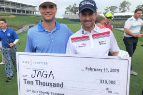 Reigning Jacksonville Amateur champion Davis Roche and defending PLAYERS champion Webb Simpson combined to top a field of 15 North Florida charities and claim the $10,000 first prize for the JAGA Scholarship Trust.
