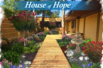 Rendering of the House of Hope courtyard