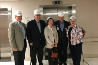 John Anderson, CHPC Campaign Committee; generous donors O'Neal and Alice Douglas; Michael Mayo, hospital president of Baptist Medical Center Jacksonville; and Julie Mason, CHPC Campaign Committee (Photo courtesy of Community Hospice & Palliative Care)