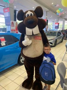 Beaver Toyota St. Augustine raised more than $6,500 in October 2018 for Logan's dream trip.