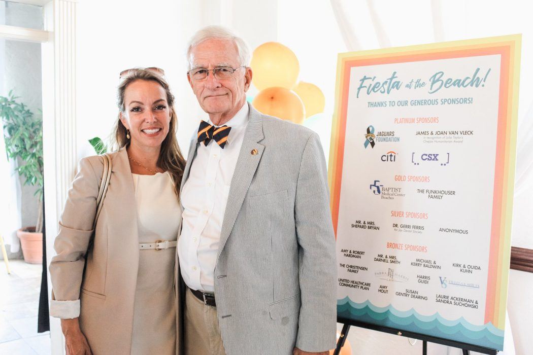 Jacksonville Beach City Council member Dr. Georgette Dumont, University of North Florida, and event honoree, Jacksonville City Councilman Bill Gulliford