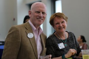 Bill Haley, Family Foundations President & CEO, and Robin Rose, Girls Inc. CEO, enjoy an evening of celebration at United Way of Northeast Florida's annual Volunteer United event June 5 at the Main Library Downtown.