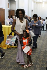 ReadingPals volunteer Marie Etienne and daughter enjoy an evening of celebration at United Way of Northeast Florida's annual Volunteer United event June 5 at the Main Library Downtown.