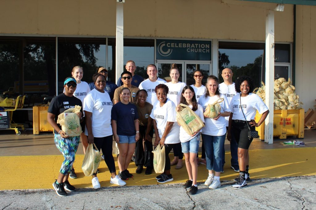 Volunteers at Celebration Church helped distribute food to Duval County families at United Way of Northeast Florida's Day of Action on June 21.