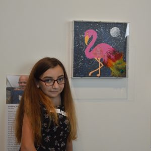 The Flarrot, created by 16-year-old Francesa, is a mix between a flamingo and a parrot. It represents her colorful personality.