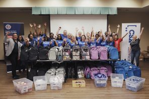 Operation Homefront, in partnership with CSX, distributed approximately 250 backpacks and essential school supplies to military children in the Jacksonville area.