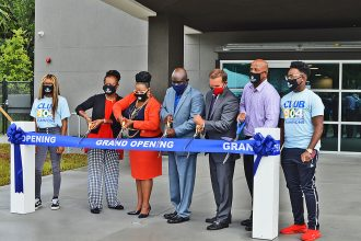City leaders joined students and other dignitaries, to include Jacksonville Mayor Lenny Curry and founder MaliVai Washington, as they cut the ribbon on the new youth center.